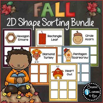 Shape Sorting Mats: Fall Bundle