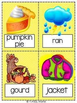Fall / Autumn {44 Flashcards & Games} ESL Adults & Grades 4-6