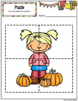 Fall/Autumn Activities Freebie Pre-k KG