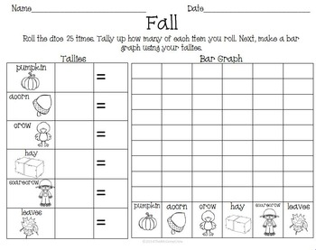 Fall Autumn Activity Pack Literacy Math Games & Puzzles K-1