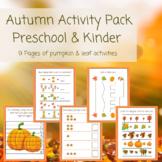 Fall / Autumn Activity Pack-Preschool & Kindergarten; Back