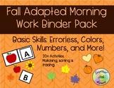 Fall / Autumn Adapted Work Binder [20+ Assorted Fall Activities]