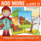 Fall Autumn Add More Counting Activities and Worksheets