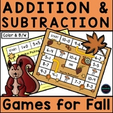 Fall/Autumn Addition and Subtraction Games
