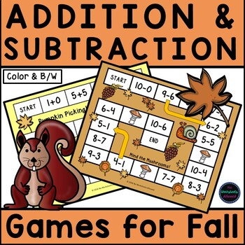 6 Fall Addition & Subtraction Games