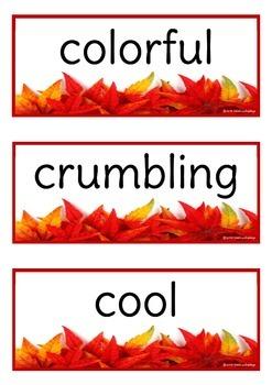 Fall / Autumn Adjectives