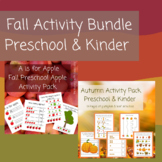 Fall, Autumn, Back to School Bundle-Preschool Activity Bundle