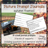Fall / Autumn / Back to School Picture Journal Prompts {Leveled Writing}