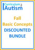 Fall Autumn Basic Concepts BUNDLE Autism Classroom Homeschool