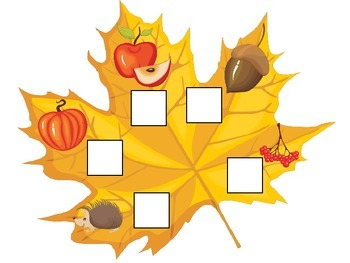 Fall Autumn Beginning Sounds preschool educational game.  Child care learning