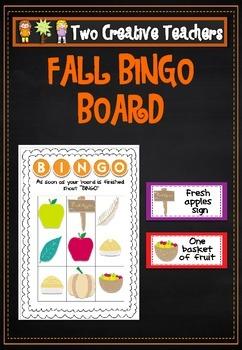 Fall Autumn Bingo