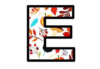 Fall, Autumn, Bulletin Board Letters, Classroom Decor, Autumn Alphabet Posters