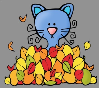 Fall Autumn Cats Clip Art - Whimsy Workshop Teaching