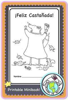 Fall Autumn Celebration in Spain La Castañada Printable Minibook