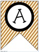 Fall / Autumn Classroom Pennants and Bunting (Letters, Num