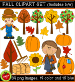 Fall/Autumn Clipart Set for commercial or personal use.