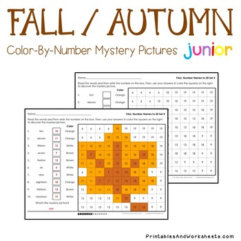 Color By Code Math Fall Place Value Activities For 2nd Grade - Kindergarten