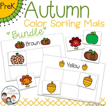 Fall Autumn Color Sorting Mats - BUNDLE