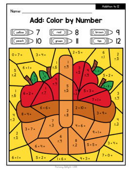 Fall/Autumn: Color by Number {Number Sense, Addition & Subtraction}