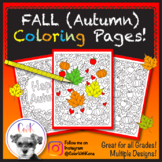 Fall (Autumn) Coloring Pages!