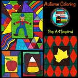 Fall Autumn Coloring Pages Pop Art Inspired