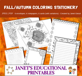 Fall-Autumn Coloring Stationery Set