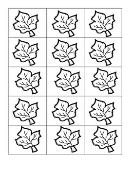 Fall / Autumn: Create a Picture Pattern (Repeating and Growing Patterns)