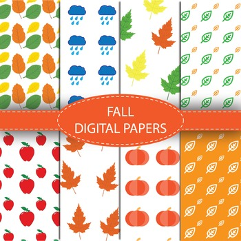 Fall/Autumn Digital Paper