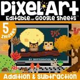 Fall / Autumn Digital Pixel Art Magic Reveal ADDITION & SU