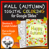 Fall (Autumn) Distance Learning Digital Coloring Pages for