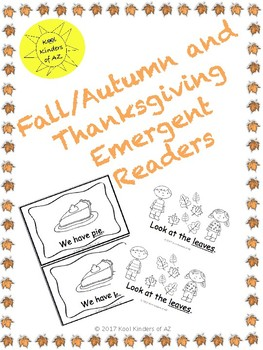 Fall/Autumn and Thanksgiving Emergent Readers