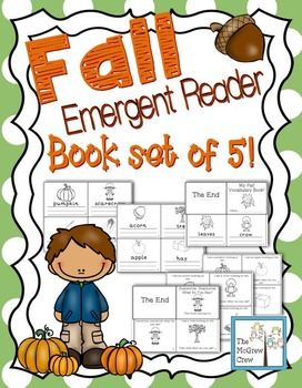 Fall & Autumn Emergent Reader & Mini-Books Set of 5!