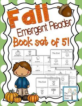 Fall & Autumn Emergent Reader & Mini-Books Set of 5!