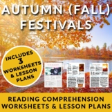 Fall (Autumn) Festivals - 3 ESL Readings w/ activities and FULL Lesson Plans