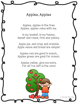 Fall / Autumn Freebie Apples, Apples Poem