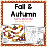 Fall Autumn Game Boards