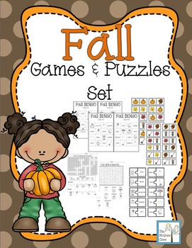 Fall Autumn Games & Puzzles Set