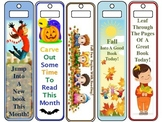 Fall Gift Bookmarks - Color AND Black and White