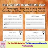 Fall/Autumn Handwriting Pack - Print and Cursive Writing