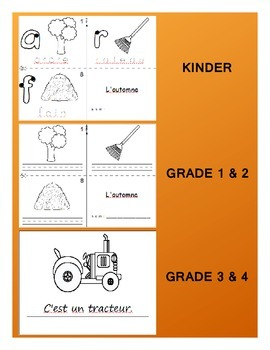 Fall / L'automne FRENCH Games & Workbook Package