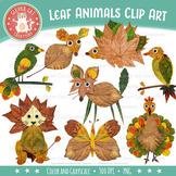 Leaf Clip Art {Fall / Autumn Animal Clipart}