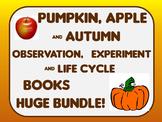 Fall Autumn Leaf, Pumpkin & Apple Observation, Experiment & Life Cycle books