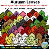 Fall, Autumn Leaves Clip Art for Commercial Use