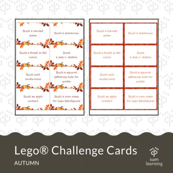 Fall / Autumn Lego® Challenge Cards