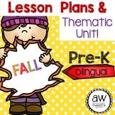 Fall Autumn Lesson Plans & Thematic Unit Pre-K, Spanish En