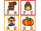 Fall/Autumn Letter Matching Puzzles - Spanish