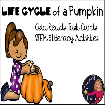 Fall Autumn Life Cycle of Pumpkins Literacy and Math activities
