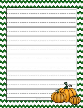 Fall Autumn Lined Writing Paper