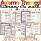 Fall/Autumn Literacy and Math Activity Bundle - NO PREP -UK & US