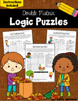 Fall / Autumn Logic Puzzles -  Double Matrix